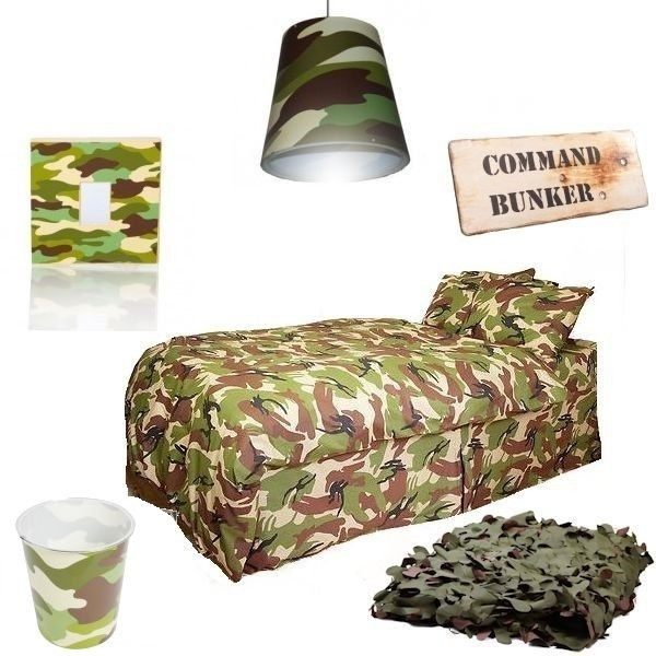 Camo bedroom set protac military shop for Camouflage bedroom ideas for kids